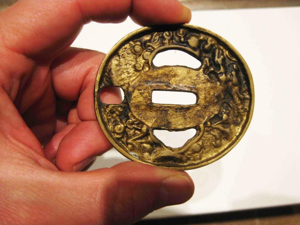 sabre chinois, roue dans le dard de la bouterolle Katana26
