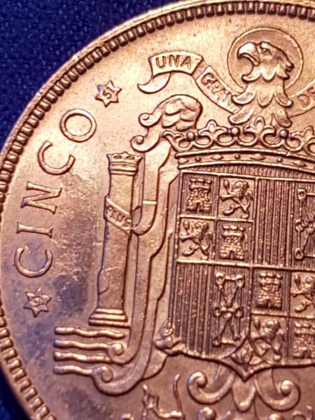 5 pesetas de 1949 (*19-51). Estado Español. Opinión 20190116