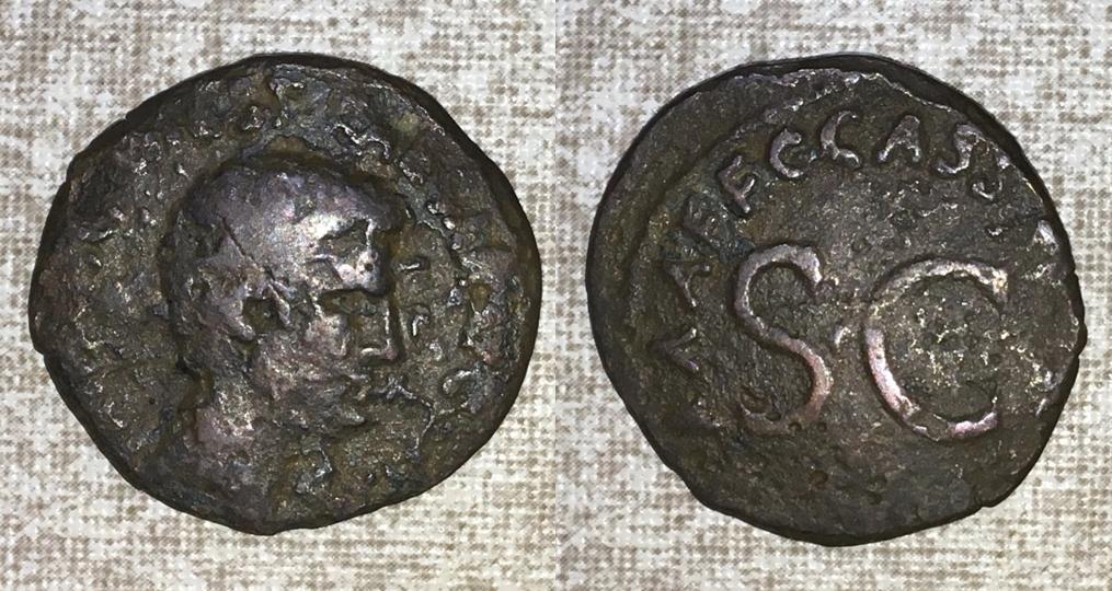 As de Augusto. C CASIVS CELER III VIR A A A F F - S C. Roma. August13