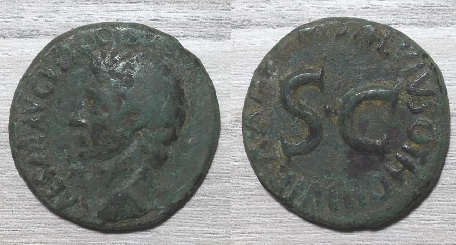 As de Augusto. M SALVIVS OTHO III VIR A A A F F - S C. Roma. August16