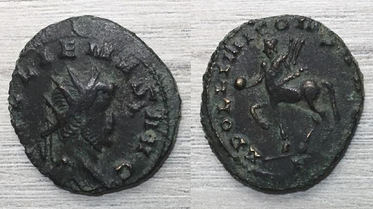 Antoniniano de Galieno, APOLLINI CONS AVG. Centauro a izq. Roma, Centau10