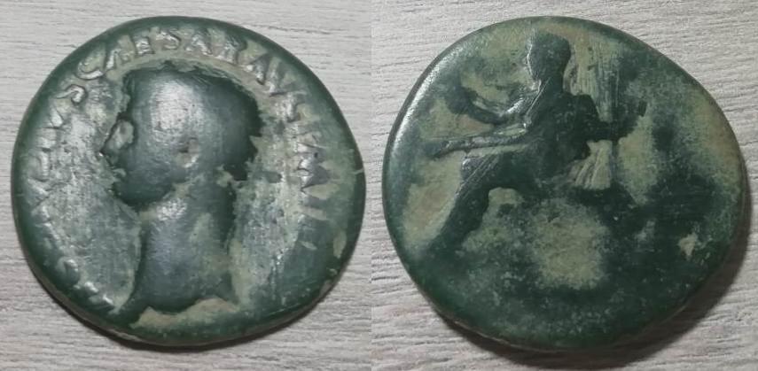 Dupondio de Claudio I. CERES AVGVSTA - S C. Ceres sedente a izq. Roma. Ceres10