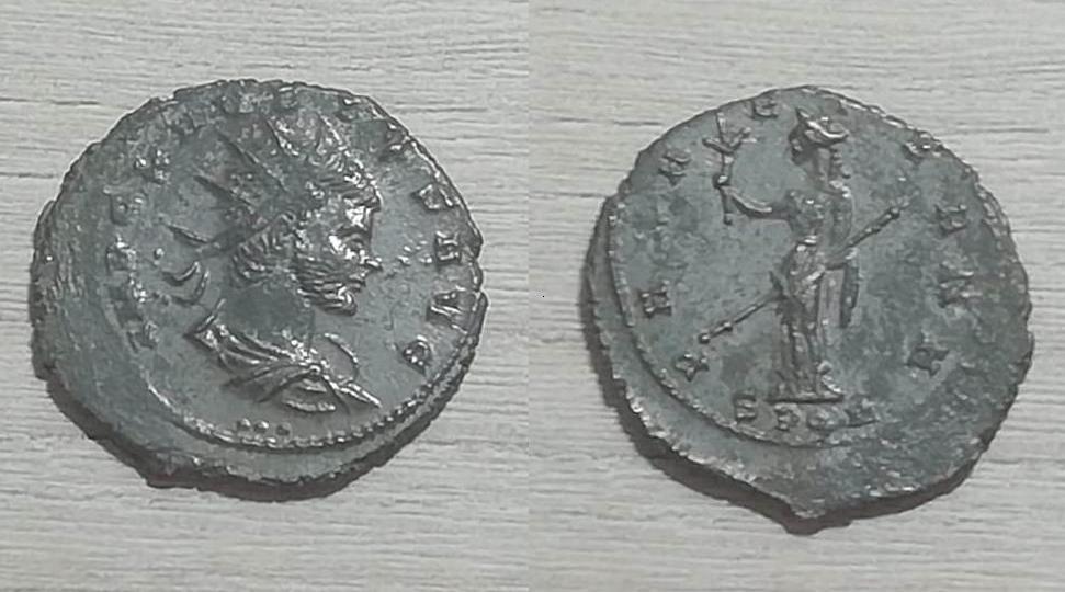 Antoniniano de Claudio II. PAX AETERNA. Paz estante a izq. Cyzicus Claudi10