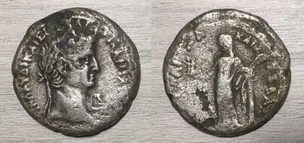 Tetradracma de Claudio, MEΣΣAΛINA KAIΣ ΣEBAΣ, Alejandría, 42-43 dC. Claudi12