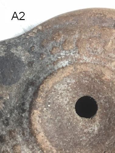 Señales de antigüedad en las lucernas Concre11