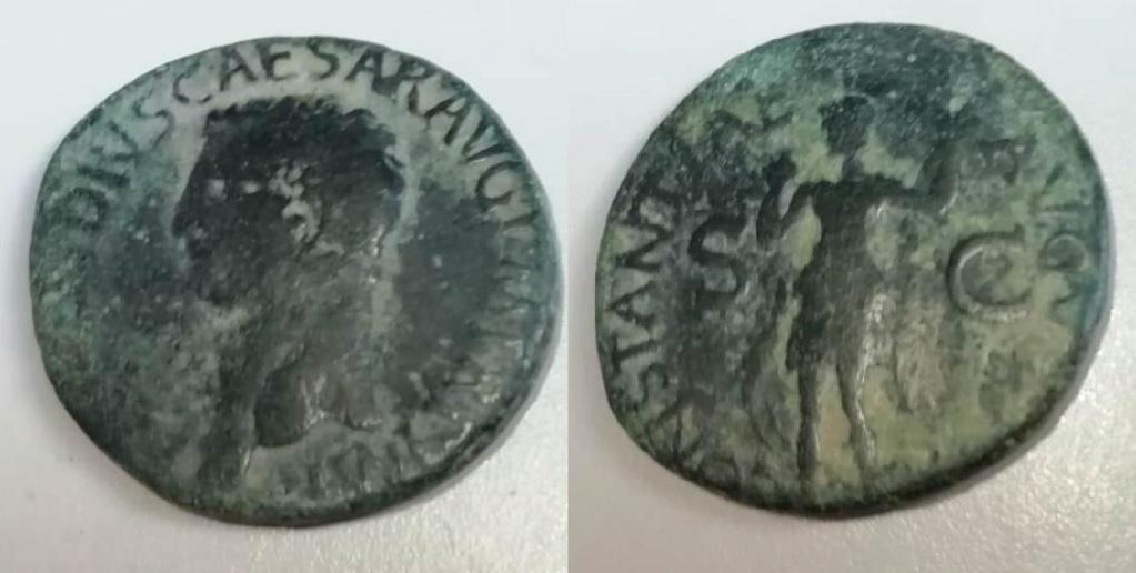 Claudio As, Constantiae Augusti, 41-50 dC. RIC 68 Consta11