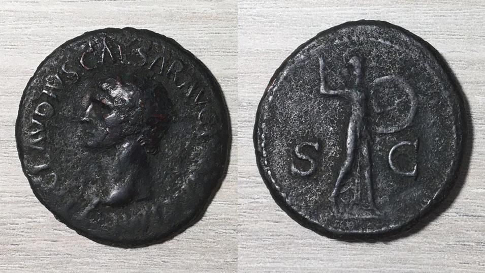 As de Claudio I. S C. Minerva avanzando a dcha. Roma. Minerv15