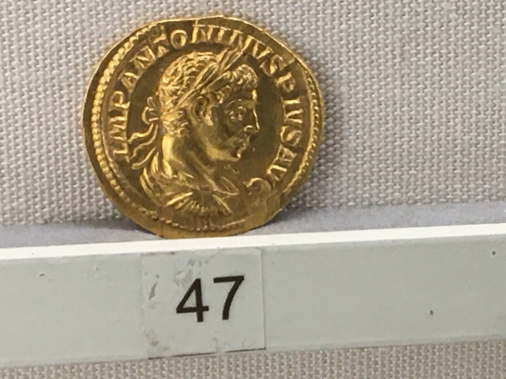 Sala numismatica Museo Nacional Romano en Palazzo Massimo (Alto Imperio), Roma Severo11