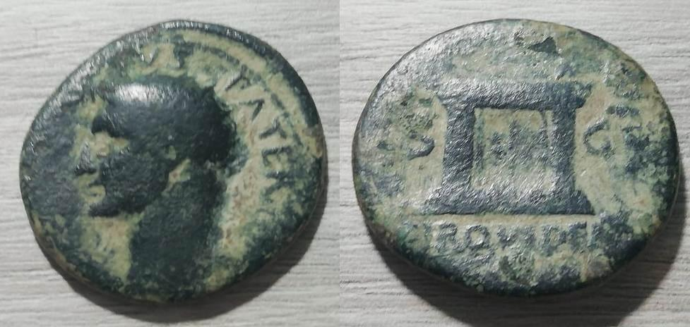 As de Tiberio. PROVIDENT - S C. Altar. Roma. Tiberi10