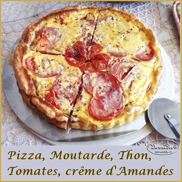 Tarte façon Pizza au thon, tomates, moutarde *** 61886310