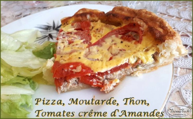 Tarte façon Pizza au thon, tomates, moutarde *** 62002210