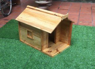 Nhà gỗ cho mèo có tính thẩm mỹ cao 2c0d5a10