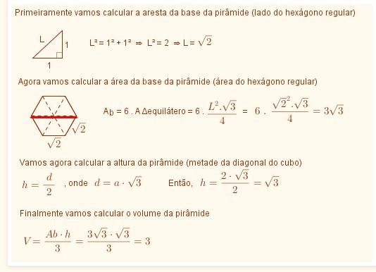 Esfera inscrita em pirâmide hexagonal (Fuvest?) Questz11