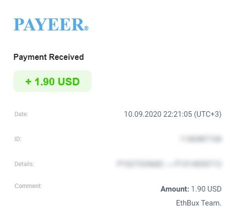 [PAGANDO] ETHBUX - RECIBIDO PAGO 3 - COMPRADAS 2 SHARES DE 10 $ - 80% REFBACK - MINIMO 2 $ LUEGO 5 $ - Página 3 Ethbux10