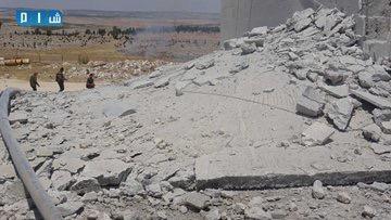 بالصور محطة مياة معرة النعمان خارج الخدمة بسبب القصف الروسي 6274d610