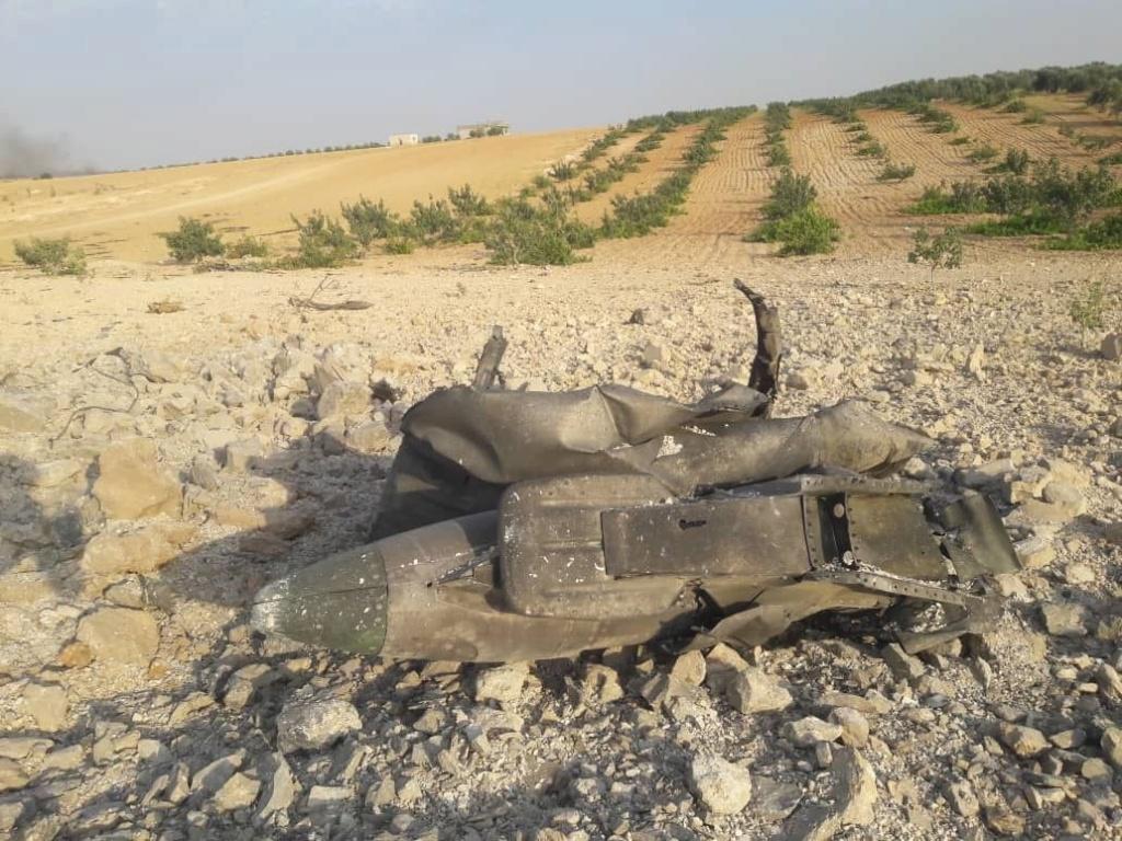اللحظات الأولى لسقوط طائرة حربية في إدلب ١٤/٨/٢٠١٩ 68fab010