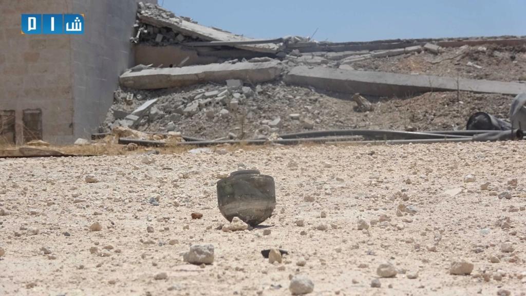بالصور محطة مياة معرة النعمان خارج الخدمة بسبب القصف الروسي B9c55710