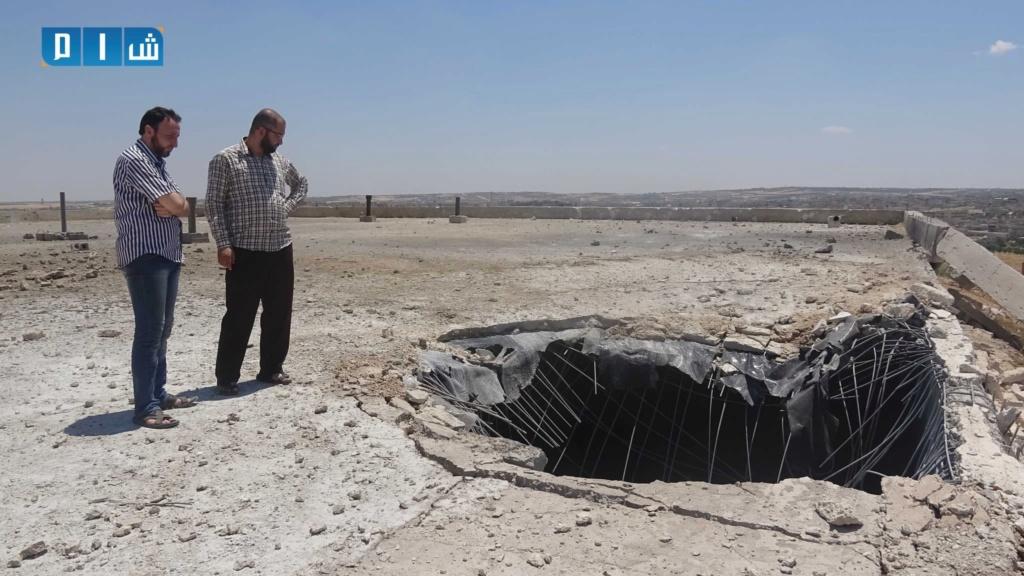 بالصور محطة مياة معرة النعمان خارج الخدمة بسبب القصف الروسي F8f27810