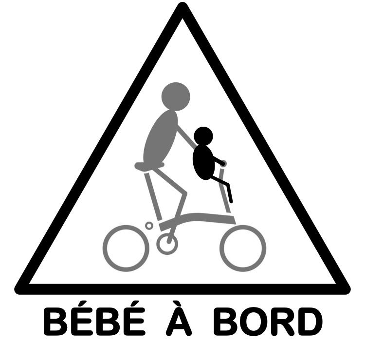 Motif bébé pour gilets de sécurité Beabea10