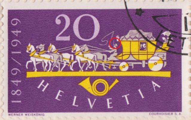 SBK 292 (Mi 520) Postkutsche / 100 Jahre Eidgenössische Post 292_4_10