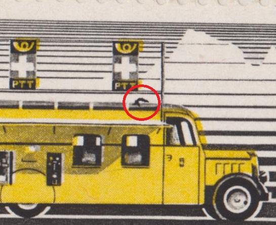 SBK 210x (Mi 311x) Automobilpostbüro - schwarz und rot gefasert Abart11