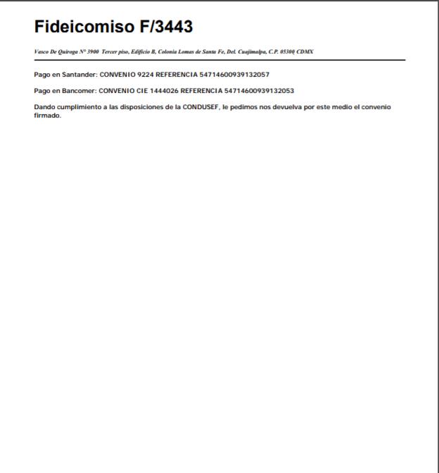 Deuda Santander/Secorse/Fid 34 Carta de Acuerdo 210