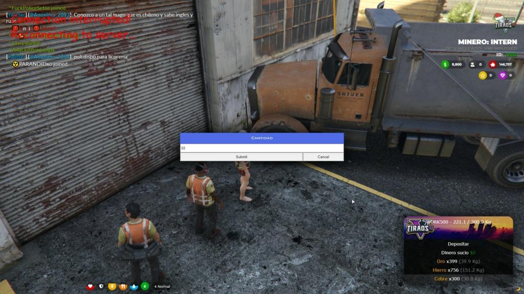 Perdida de objetos de camion al caerse el server 20201210