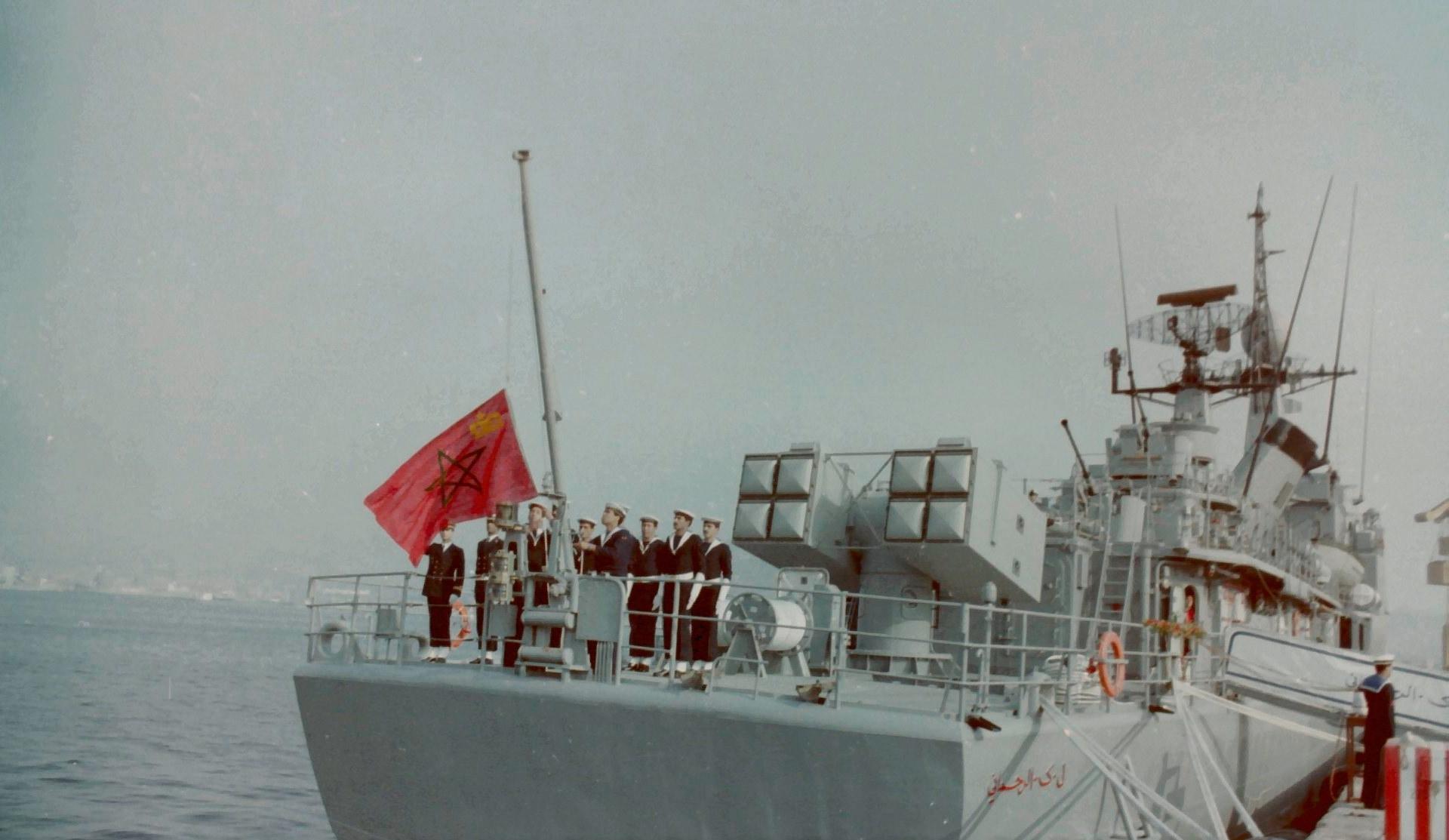 Royal Moroccan Navy Descubierta Frigate / Corvette Lt Cl Errahmani - Bâtiment École - Page 4 Clipb523