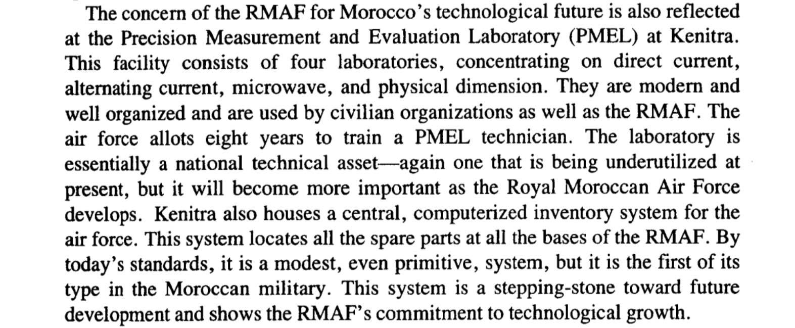 PMEL - Laboratoire de Métrologie des Forces Royales Air Pmel10