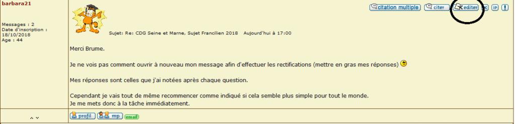 CDG Seine et Marne, Sujet Francilien 2018 Editer10