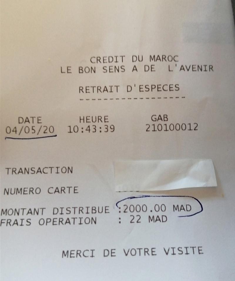 [Maroc/Argent] retrait dirhams Credit Agricole Tiznit Scree108