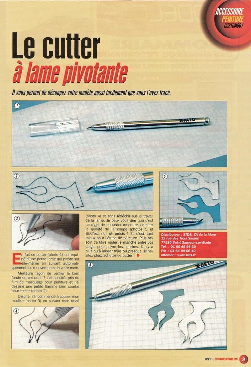 Article Model Car Magazine : le cutter magique Numeri10