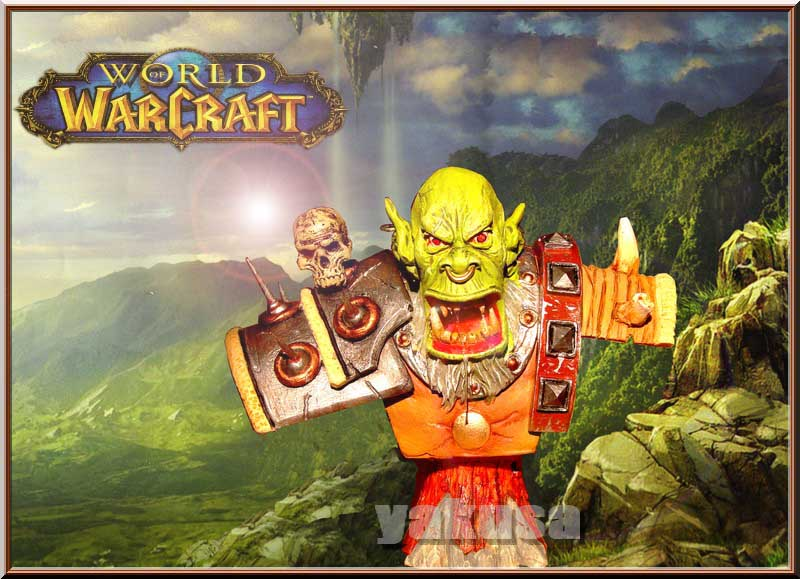 "orc ""world of warcraft "" 1/6 Decor_11"