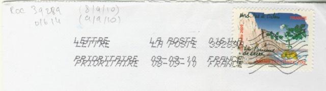 Oblitération avec lignes ondulées avec 10 lignes 15515188