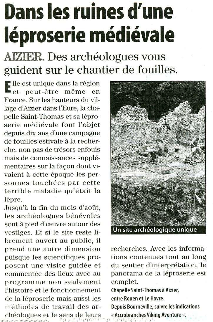 Aizier - Dans les ruines d'une léproserie médiévale Aizier10