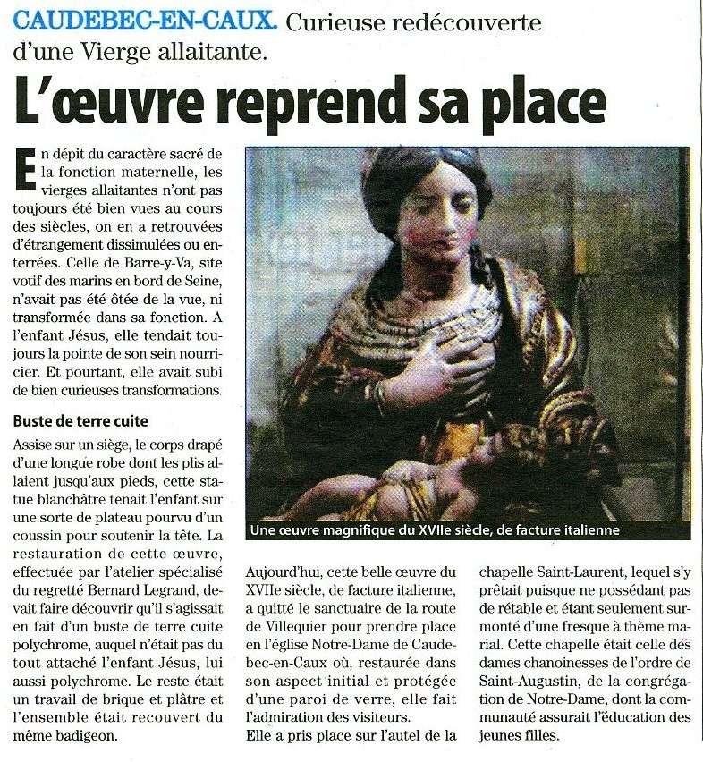 Caudebec-en-Caux - Curieuse redécouverte d'une Vierge allaitante Caudeb10