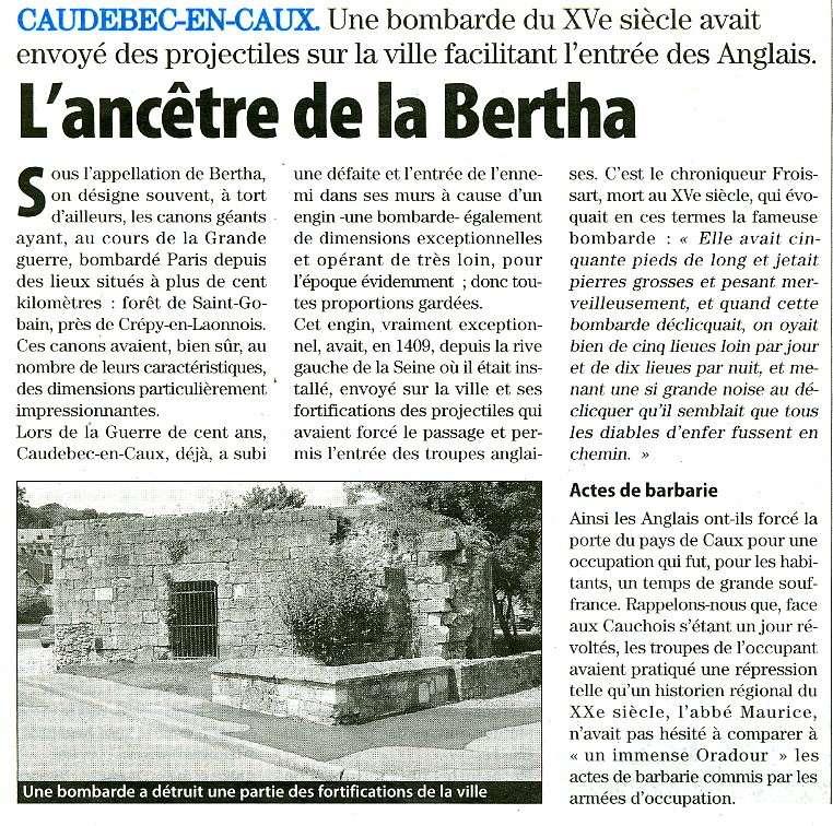 Caudebec-en-Caux - L'ancêtre de la Bertha Caudeb11