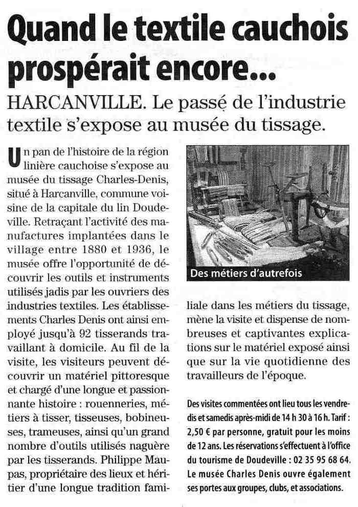 Harcanville - Musée du tissage Charles DENIS Harcan10