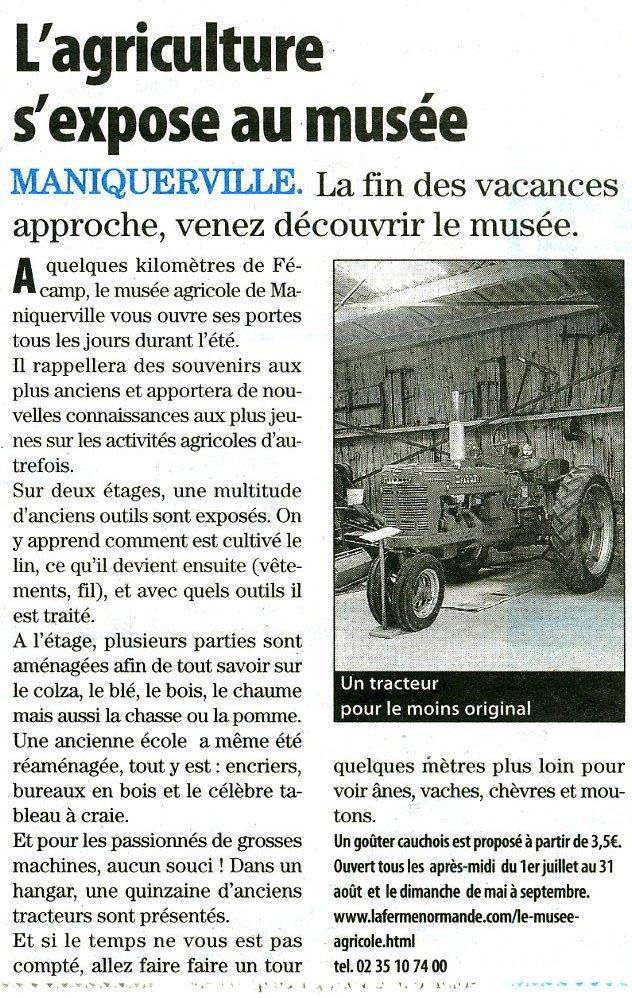 Maniquerville - L'agriculture s'expose au musée Maniqu10