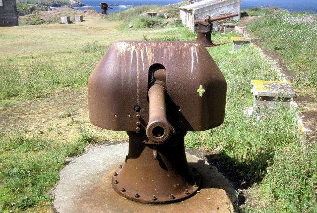 Le canon de 95 Mle 1888 en défense des côtes Houat_10