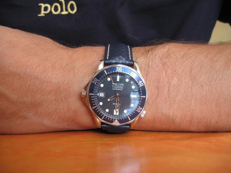 Feux de vos montres monté sur Carbon Hirsch Omega_10