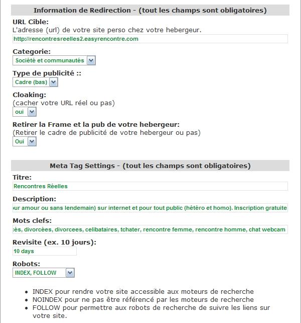 TUTO NIVEAU 2 - Pour un site personnalisé et référencé Redir311