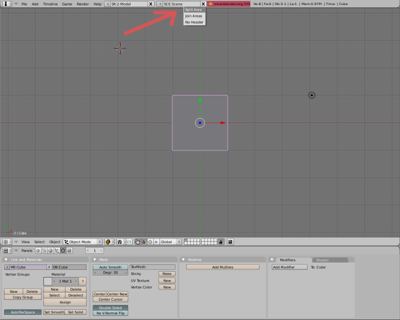 Mesh 2: Tutorial Blender Básico (Programa de 3D) Pantal11