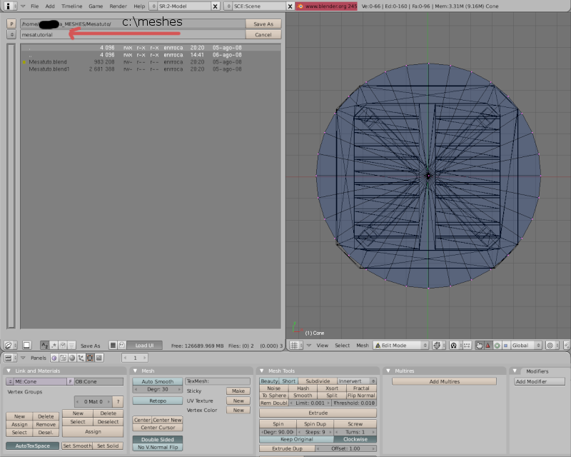Mesh 2: Tutorial Blender Básico (Programa de 3D) Pantal66