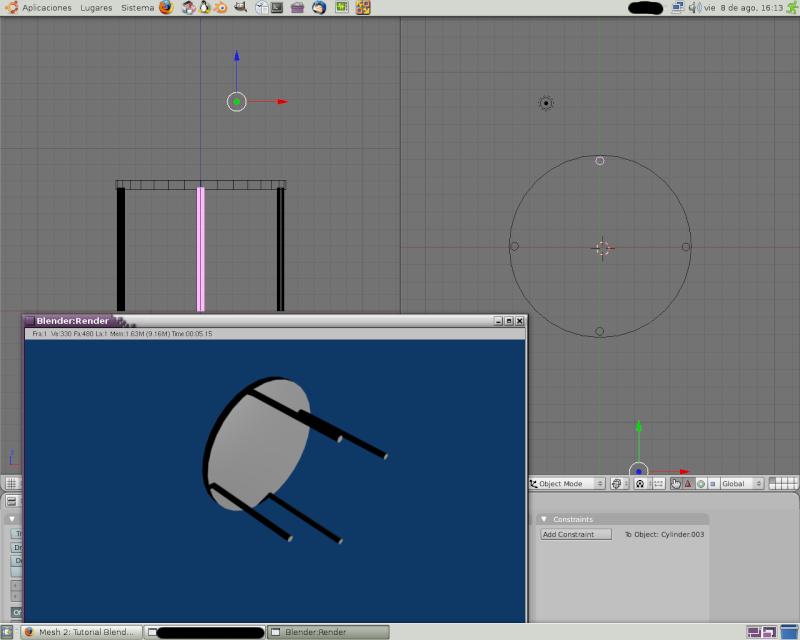 Mesh 2: Tutorial Blender Básico (Programa de 3D) Pantal70
