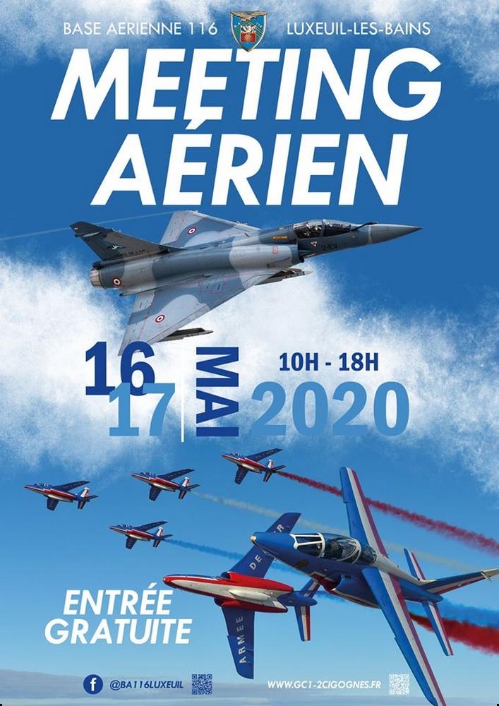Meeting Aerien de la BA-116 Luxeuil 2020 Airshow manifestation Aerienne