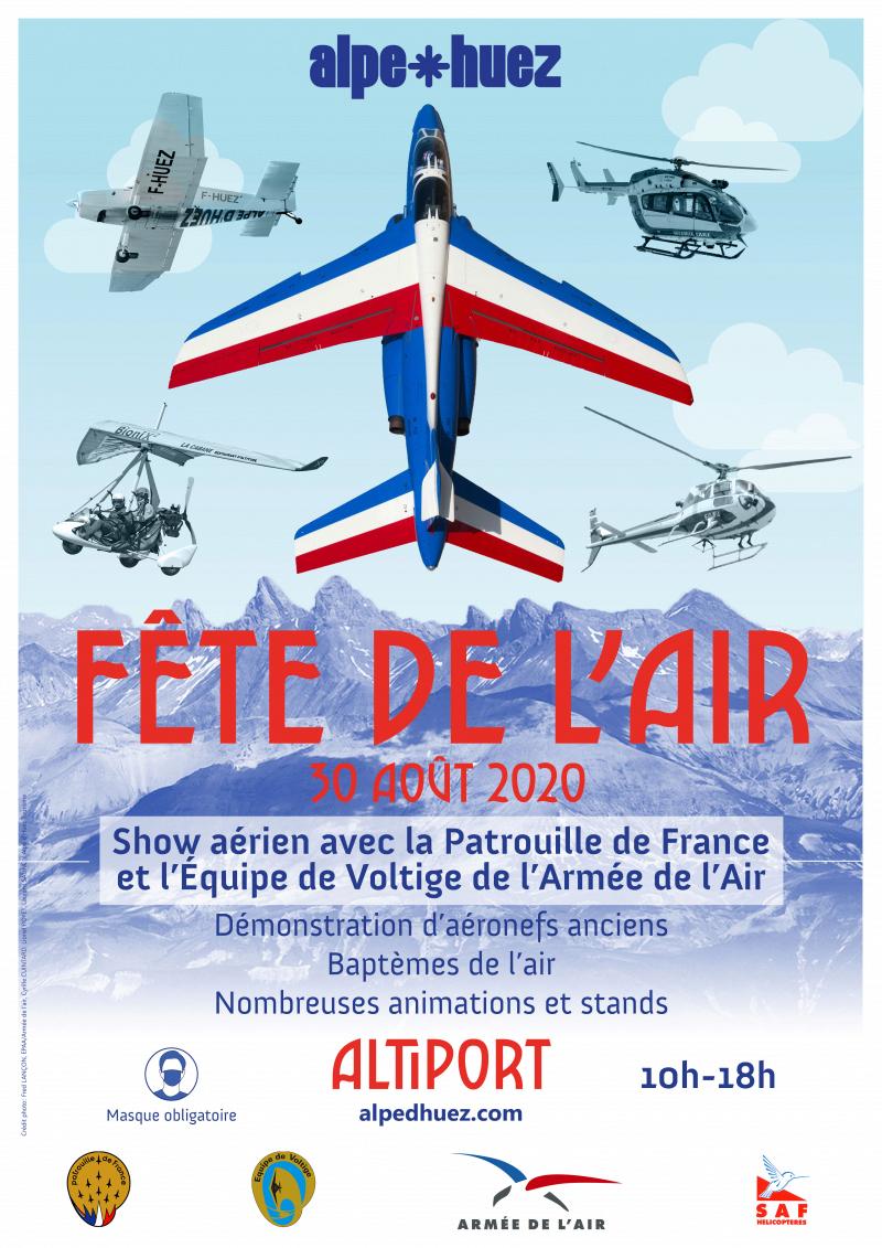 Fête de l'Air de l'Alpe d'Huez 2020 patrouille de france Auvergne Rhone Alpes meeting aerien 2020