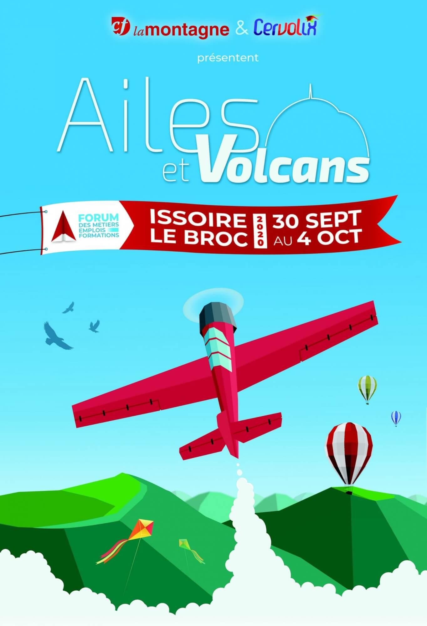 Ailes et Volcans Cervolix 2020 AACT Cervolix groupe Centre France LaMontagne forum Métiers Emplois Formations