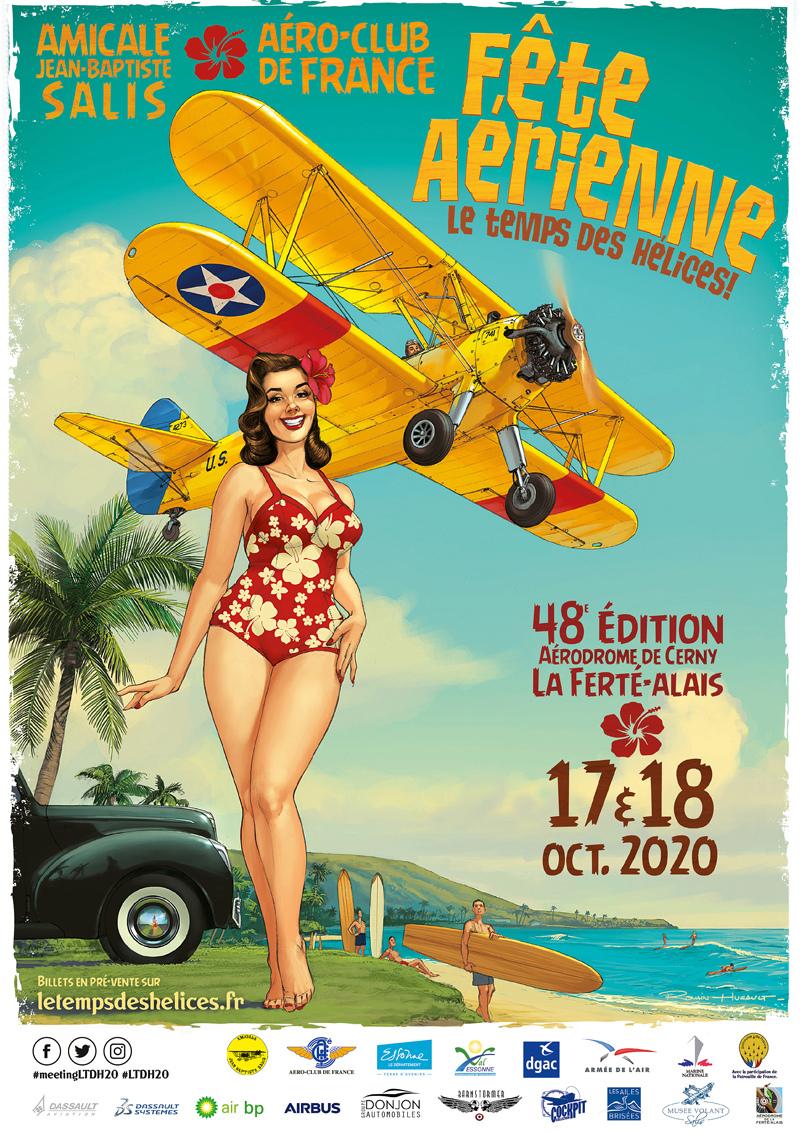 Meeting Aerien de La Ferté-Alais 2020 17 et 18 octobre Aérodrome Plateau Ardenay Cerny Airshow manifestation Aerienne