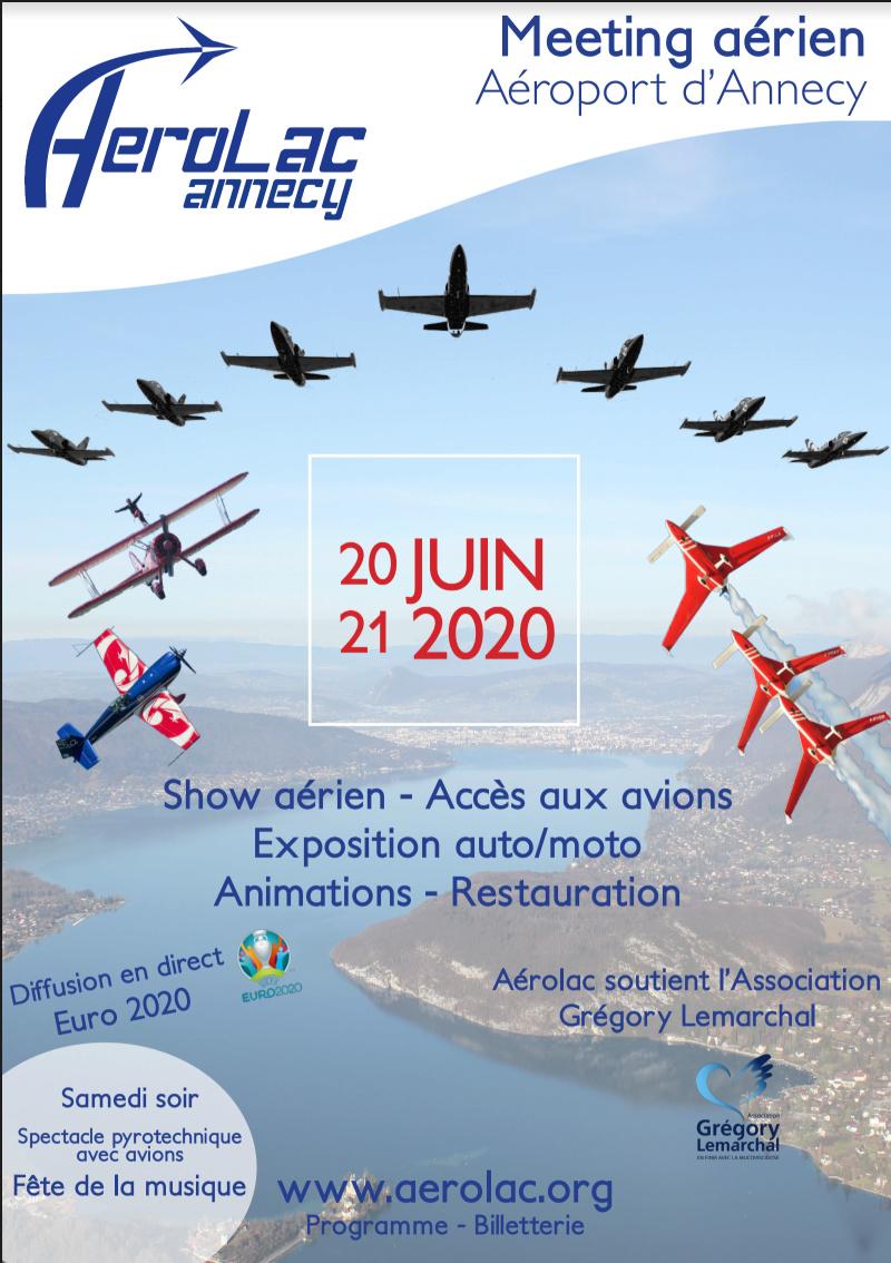 AéroLac Annecy 2020 Aéroport Annecy Metz-Tessy meeting aerien Haute Savoie